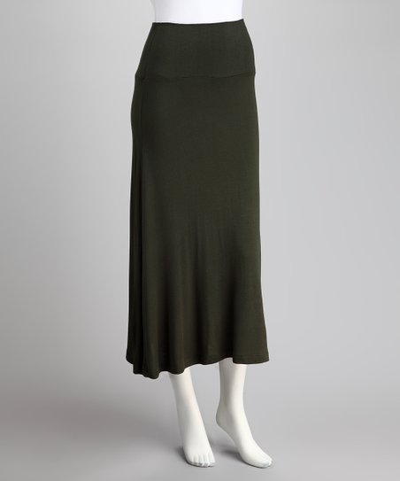 Olive Maxi Skirt - Women & Plus