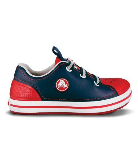 Navy &amp; Red Crocband Sneaker - Kids