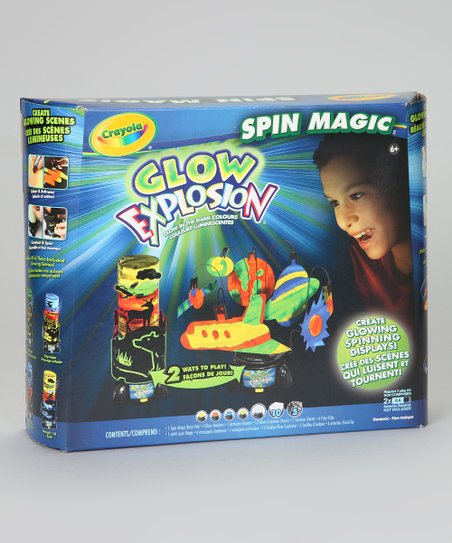 Glow Explosion Spin Magic Art Set