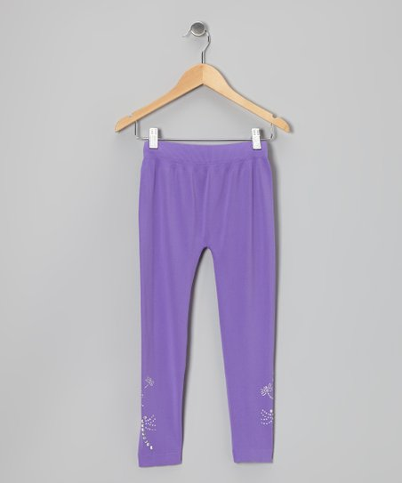 Lavender Dragonfly Leggings