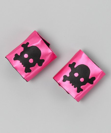 Hot Pink &amp; Black Playful Pirate Cuffs