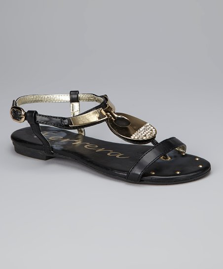 Black Canadian Crystal Sandal