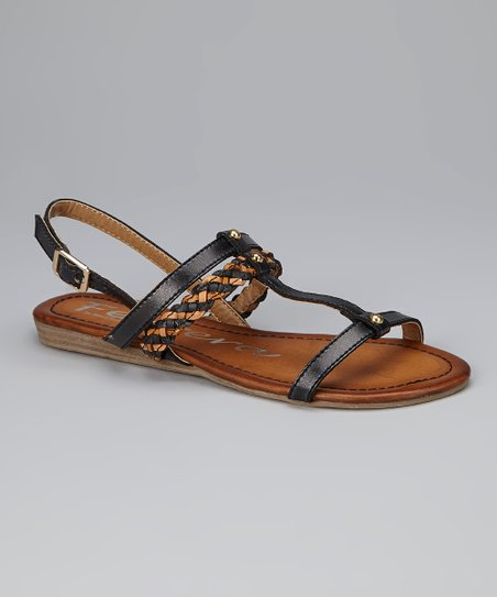 Black Braided Sandal
