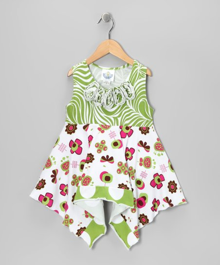 Green Summertime Handkerchief Tunic - Toddler & Girls