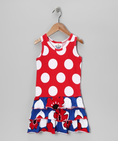 Blue Pop Art Drop-Waist Dress - Toddler & Girls
