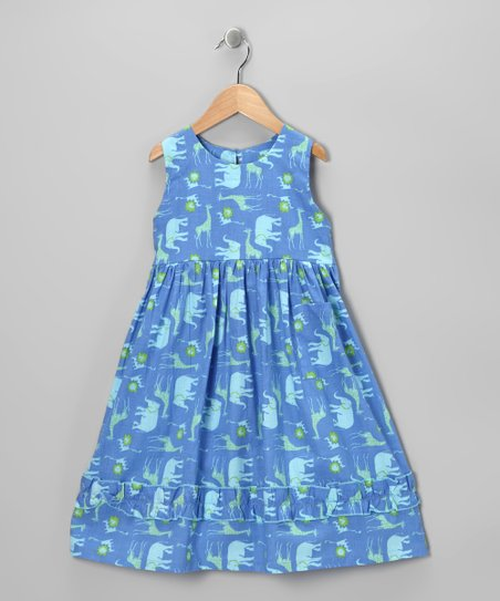 Blue All Safari Babydoll Dress - Infant, Toddler & Girls