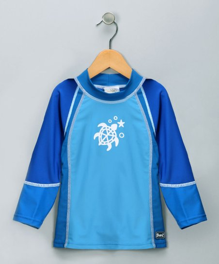 Blue Turtle Long-Sleeve Rashguard - Toddler & Boys
