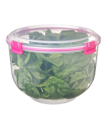 Pink Salad Accents Container