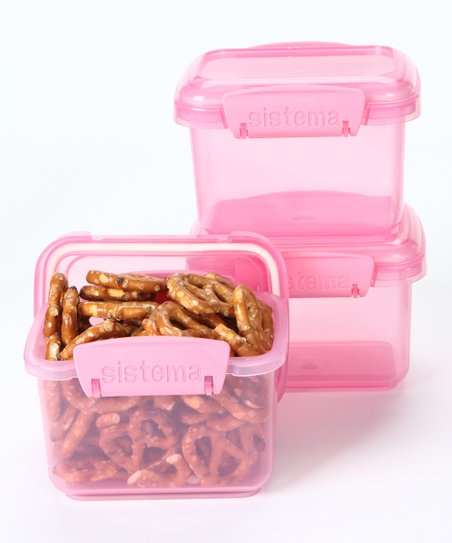 Pink 400-mL Container - Set of Three