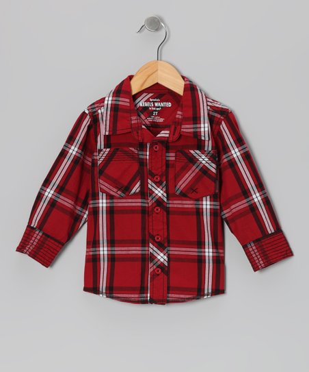 Rio Red Plaid Speed Demon Button-Up - Infant, Toddler & Boys