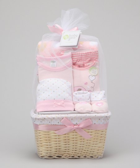 Pink Heart Love 7-Piece Basket Set