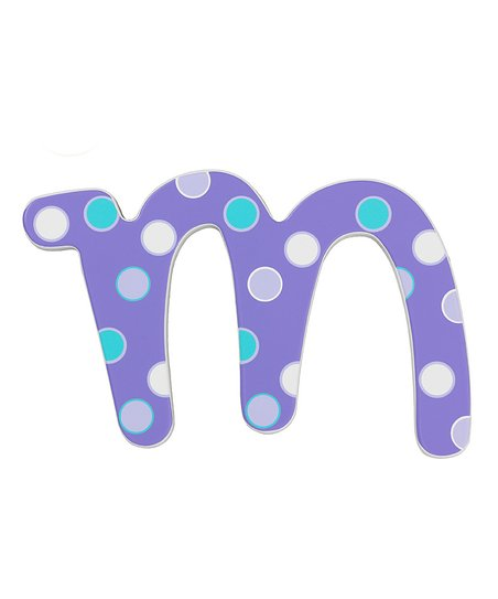 Dreamy Dot Letter M Wall Sign