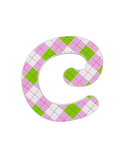 Sweet Argyle Letter C Wall Sign