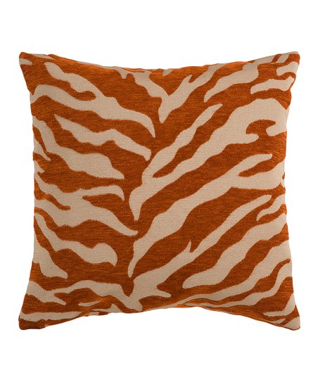 Copper Penny Zebra Stripe Pillow