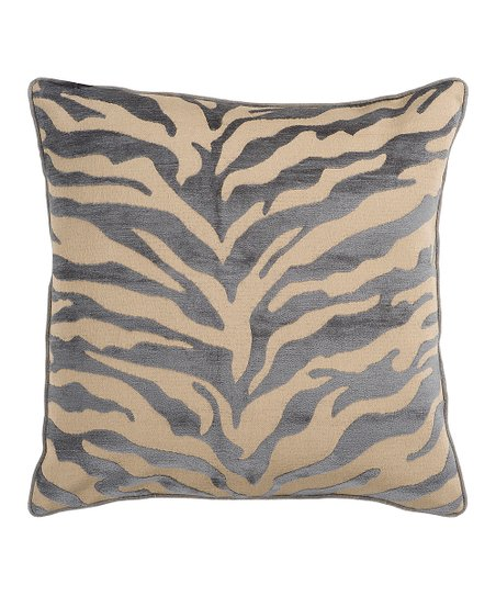 Dark Slate Blue Zebra Stripe Pillow