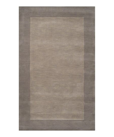 Taupe Border Mystique Wool Rug