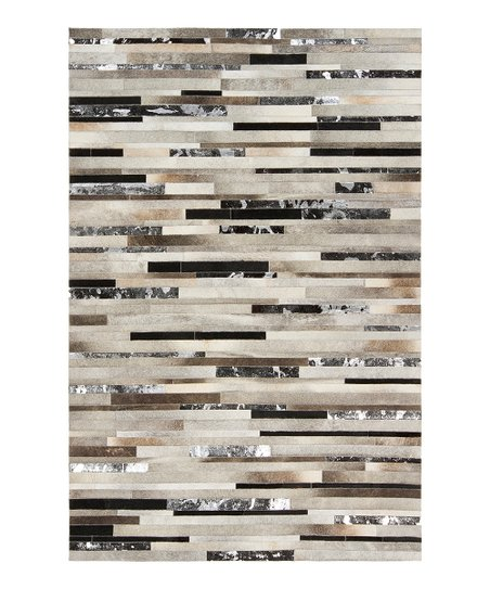 Safari Tan & Jet Black Leather Trail Rug