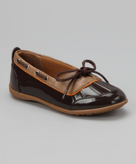 Brown Raindrop Duck Shoe