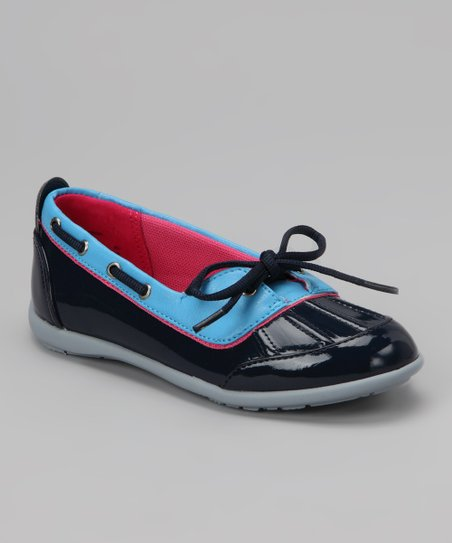 Navy Raindrop Duck Shoe