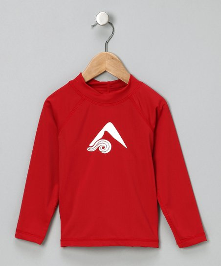 Red Platinum Rashguard - Toddler & Boys