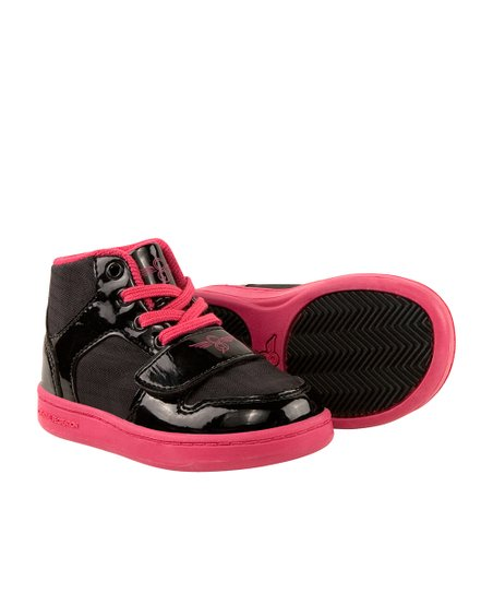 Hot Pink & Black Cesario Hi-Top Sneaker