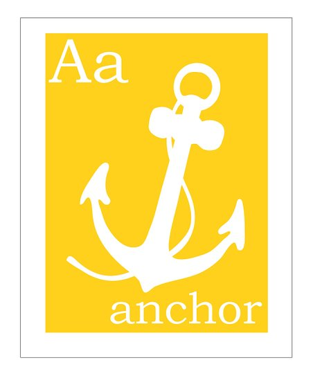 Yellow 'A is for Anchor' Giclée Print