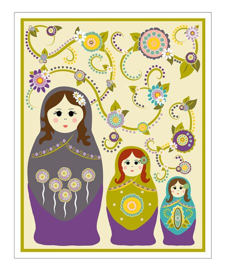 Purple Nesting Doll Giclée Print