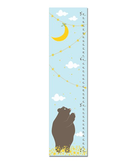Blue Reach for the Stars Growth Chart