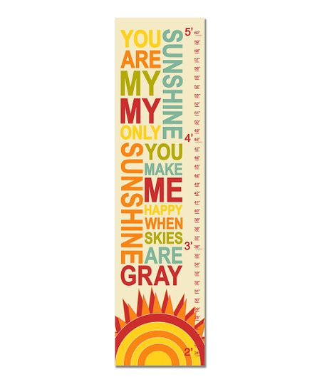 New Retro &#039;You Are My Sunshine&#039; Growth Chart