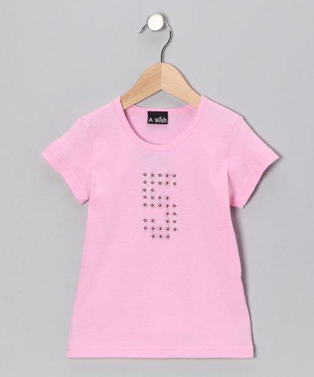 Pink Rhinestone '5' Birthday Tee – Girls