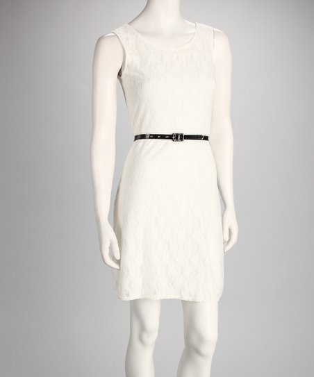 Ivory Lace Dress & Belt