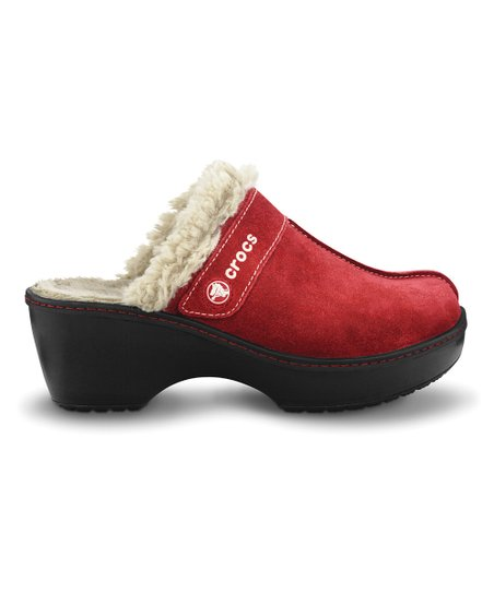 Garnet &amp; Black Crocs Cobbler Clog - Women