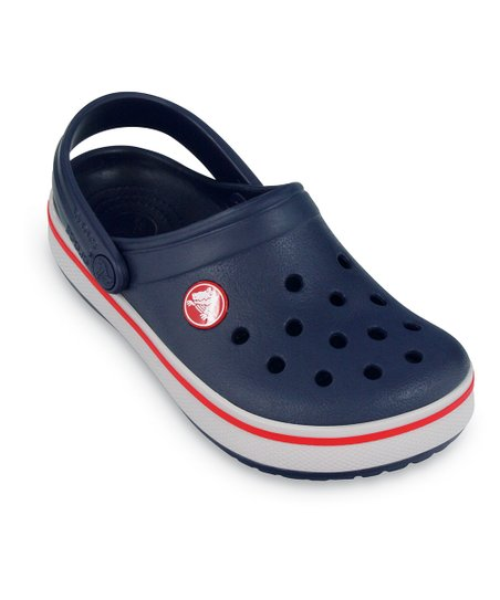 Navy & Red Kerren Clog - Kids
