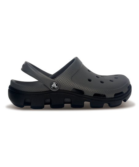 Charcoal & Black Duet Sports Clog - Men & Women