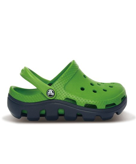 Parrot Green &amp; Navy Duet Sport Clog - Kids