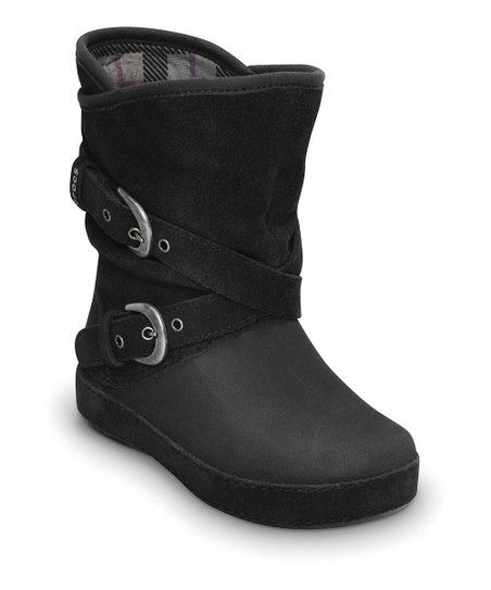 Black Berryessa Buckle Boot - Kids