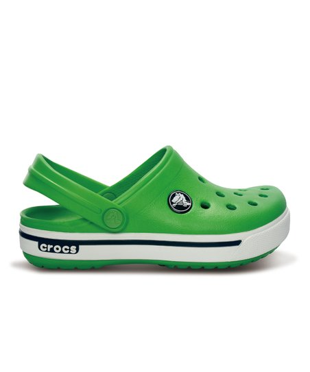 Lime Green &amp; Navy Crocband 11.5 Clog