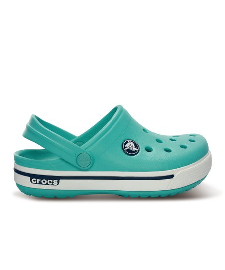Island Green & Navy Crocband 11.5 Clog - Kids