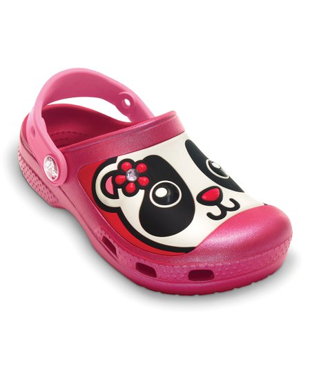 Raspberry &amp; Blue Iridescent Creative Crocs Panda Clog