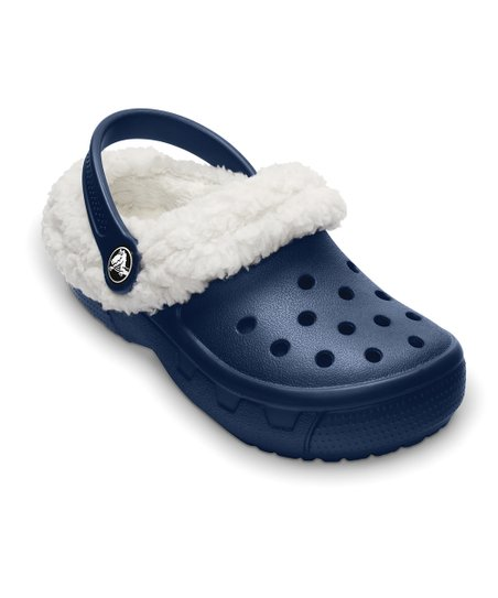 Navy & Oatmeal Mammoth EVO Clog - Kids