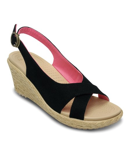Black & Chai A-Leigh Linen Wedge - Women
