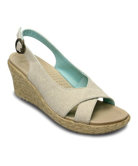 Oatmeal & Chai A-Leigh Linen Wedge - Women
