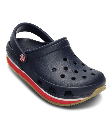 Navy & Red Crocs Retro Clog - Kids