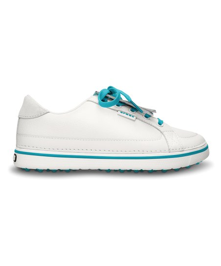 White & Turquoise Bradyn Golf Shoe - Women