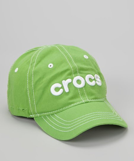 Lime & White Jibbitz Baseball Cap - Kids