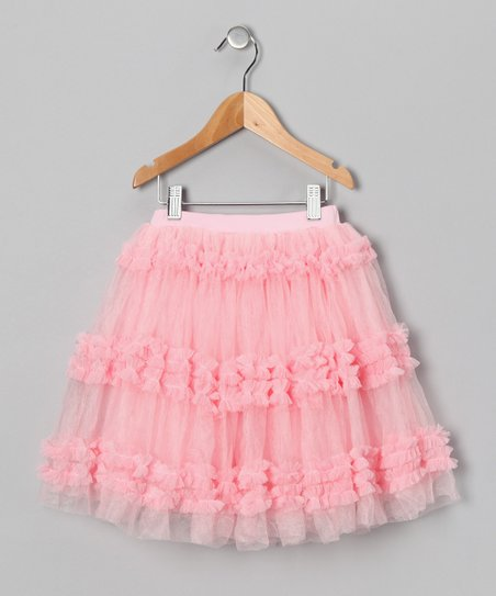 Light Pink Ruffle Tulle Skirt - Toddler & Girls