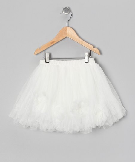White Tulle Skirt - Toddler