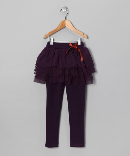 Purple Skirted Leggings - Toddler
