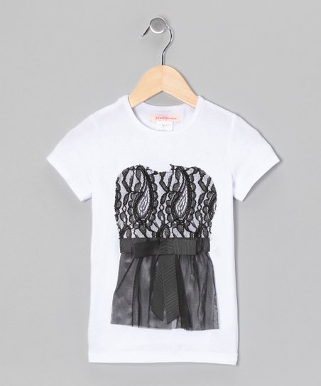 White Lace Tee - Toddler & Girls
