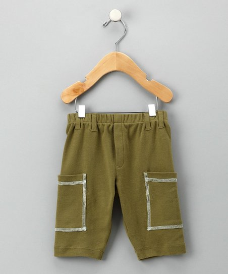 Olive & Blue Organic Cargo Shorts - Infant